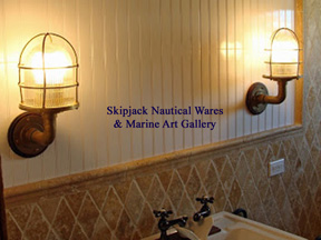 90 degree ships passageway lights used for interior bathroom lighting.