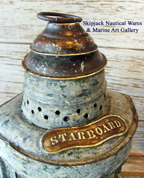 Authentic marine starboard ships light.