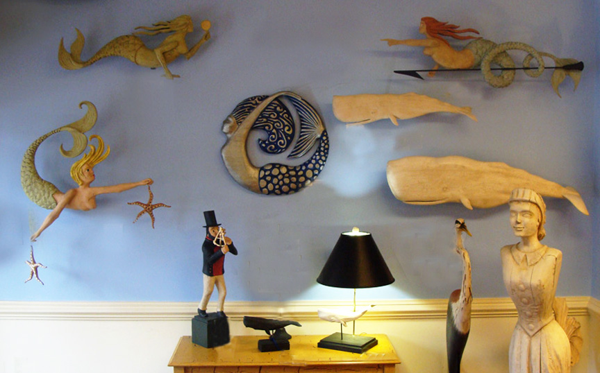 Marine Folk Art featuring the Work of Jac & Patricia Johnson.