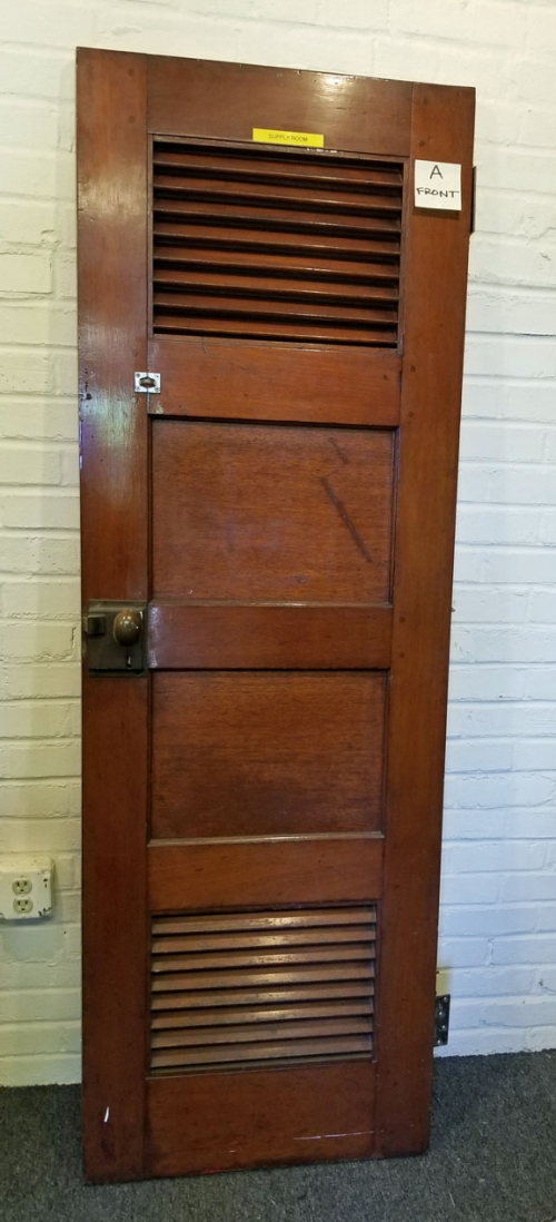 Salvaged Mahogany Door From the Tugboat Esso Massachusetts