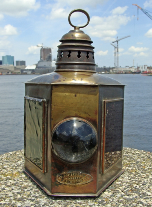 Rare American Combination Small Craft Running Light, Wm. Porter's Sons, New York