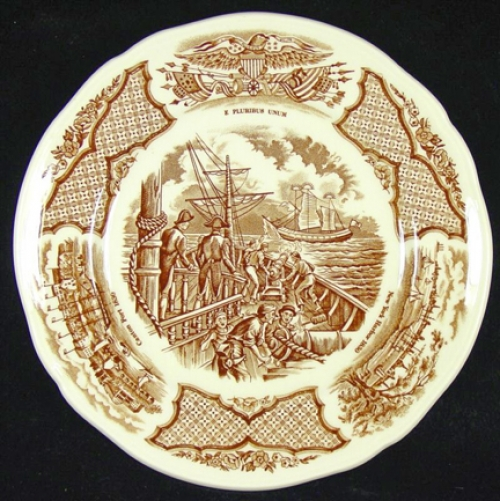 "Alfred Meakin ""FAIR WINDS"" Stoneware Bread & Butter Plates (vintage)"