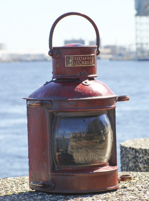 Stern Light, Overtaking, Painted Tin Lantern