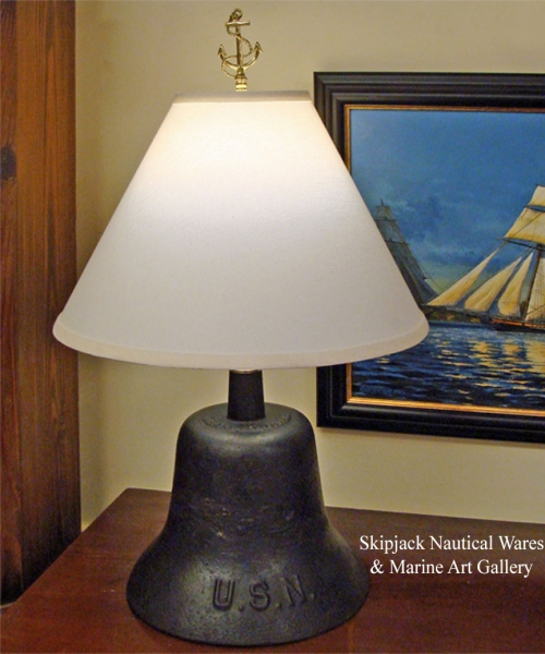 Nautical Table Lamp from WWII US Navy Quarterdeck Bell