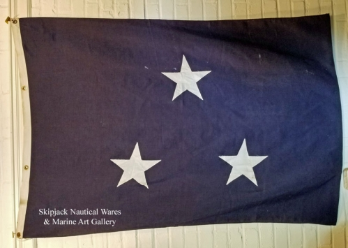 RARE: U.S. Navy Vice Admiral Flag, WWII