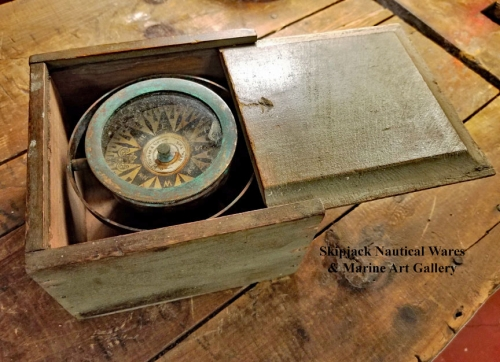Boxed Marine Compass- C. D. Durkee, New York