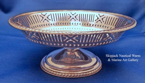 U.S. Navy Wardroom silverplate Candy or Receiving Dish, pre WWII