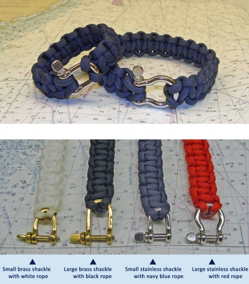 Mariner Nautical Rope Bracelet with Shackle Clasp