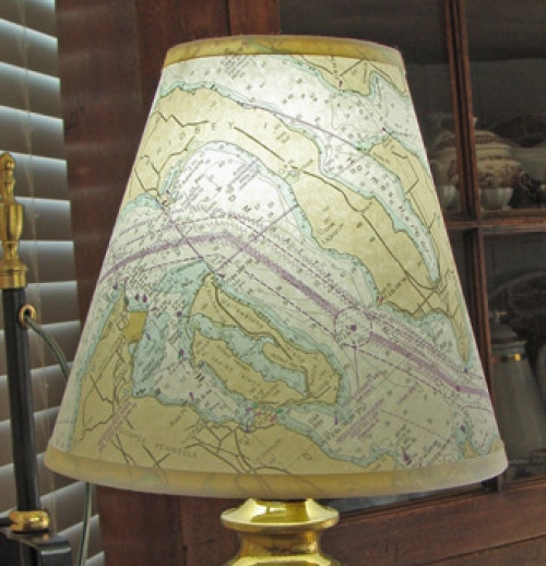 "Small (8"") Nautical Chart Lamp Shade"