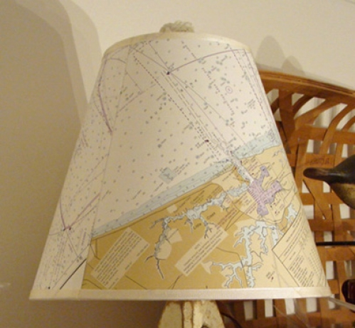 "Medium (12"") Nautical Chart Lamp Shade"