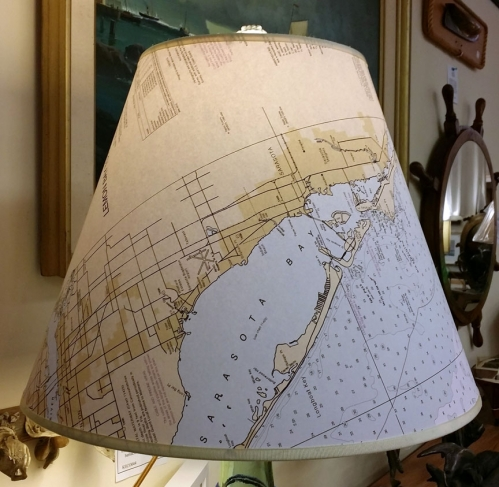 "Large (16"") Nautical Chart Lamp Shade"