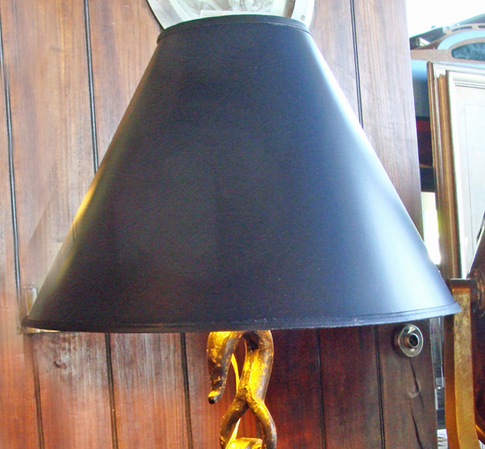 18 Inch Black Parchment Lamp Shade