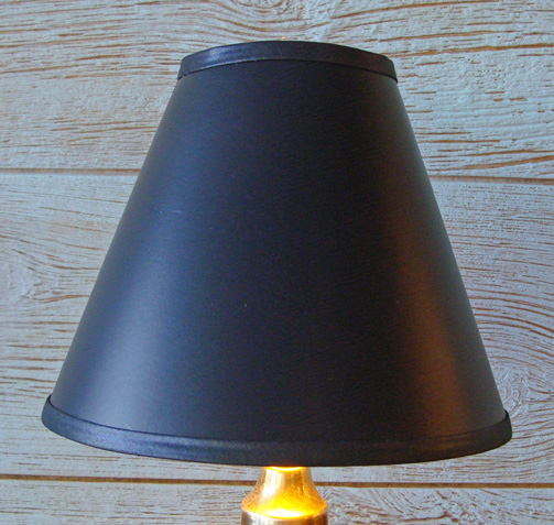 9 Inch Black Parchment Lamp Shade