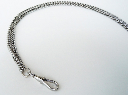 Nickel-Plated Brass Chain Lanyard