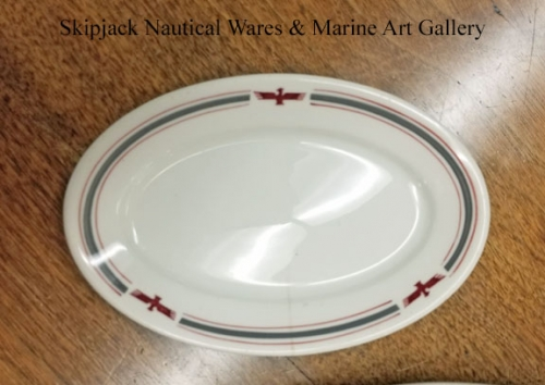 American President Lines small oval plate, circa 1960