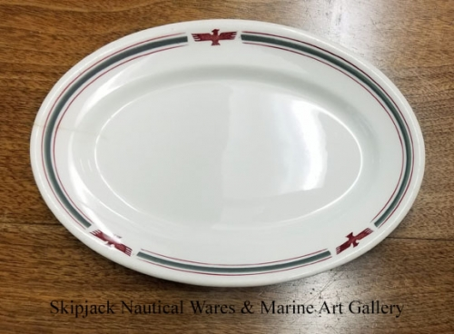 American President Lines oval plate, circa 1960