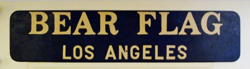 Bear Flag Los Angeles Vintage Sign, length: 54 inches