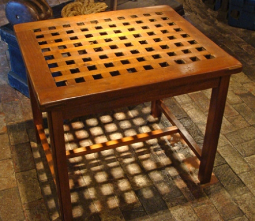 Nautical Teak Grate Occasional Table