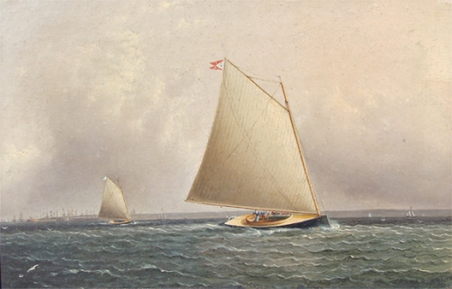 James E. Buttersworth- Cat Boats Racing