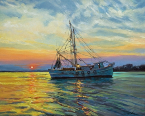 """Coming Home"" original oil painting by Sandy Nelson"