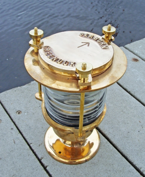 Seaborn Brass Pedestal Dock or Piling Light (new)