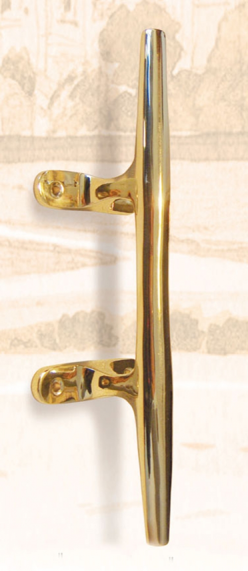 Solid Brass Cleat, 10 inch (new)