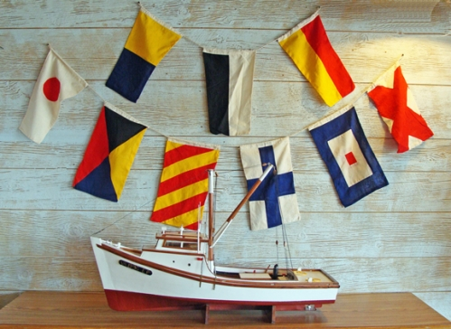 Line of Three Nautical Signal Flags