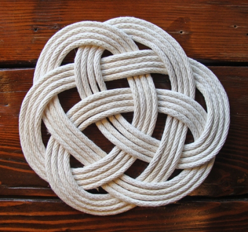 Handcrafted Turk's Head Rope Mat or Trivet