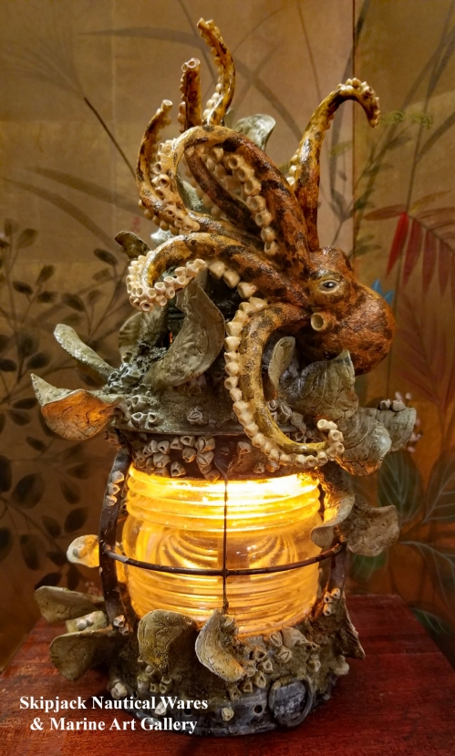 An Under-the-Sea Coastal Lamp Creation by Kevin Collins