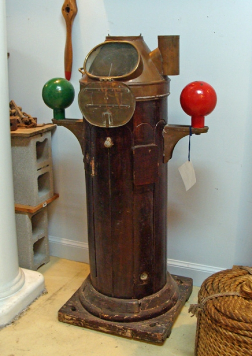Authentic Mid 20th Century Ship's Binnacle With Kelvin Hughes Compass
