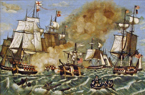 "The Battle of Lake Erie - Giclee Print on Canvas - 20"" x 30"""