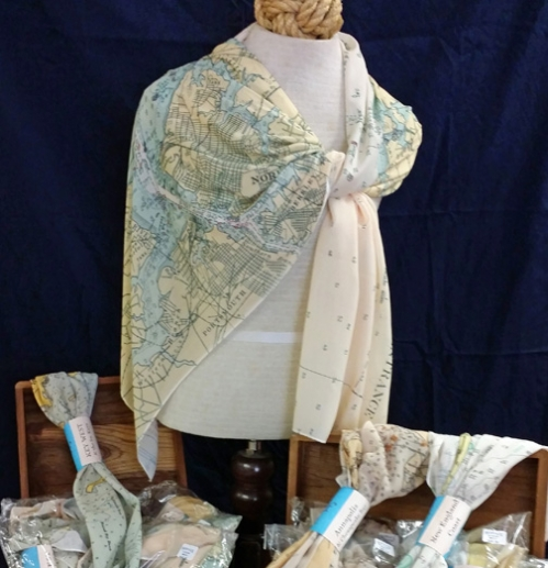 Nautical Chart Scarves