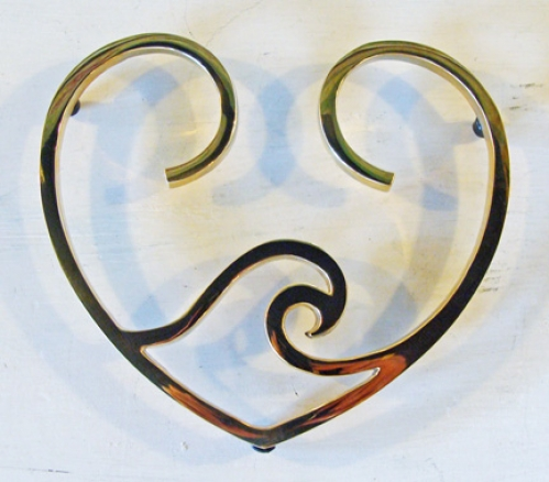 Ocean Wave in Heart Nautical Trivet