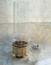 Skipjack's boaters brass table Lamp with glass chimney