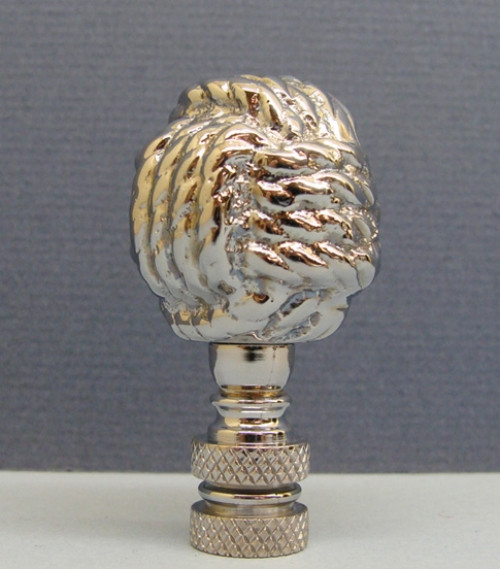 Chrome Monkey's Fist Rope Lamp Finial