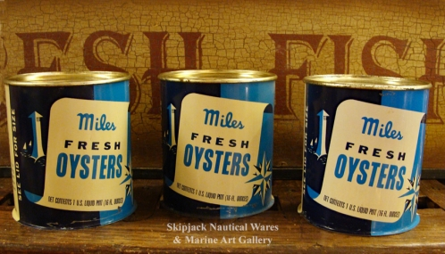 One Pint Miles Fresh Oysters Tin Cans