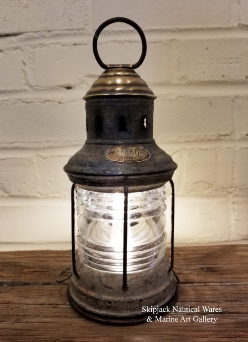 Antique Perko Small Boat Anchor Lantern