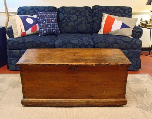 PRICE REDUCED- 19th Century American Pine Sea Chest