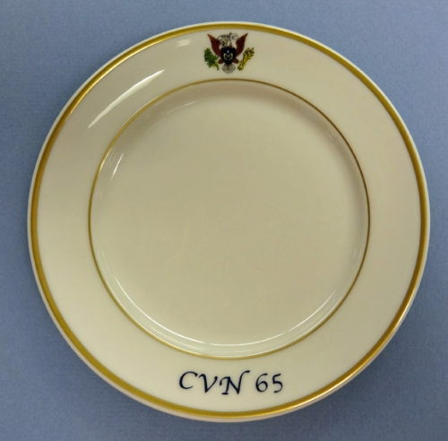 Bread Plate - US Navy wardroom china for USS Enterprise CVN 65 (new)