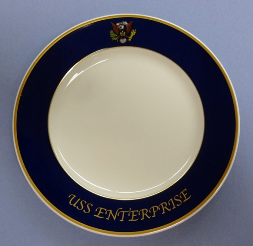 Salad Plate - US Navy wardroom china for USS Enterprise CVN 65 (new)