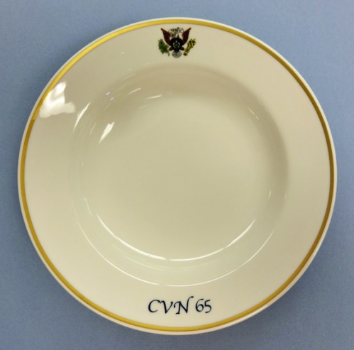 Soup Bowl - US Navy wardroom china for USS Enterprise CVN 65 (new)