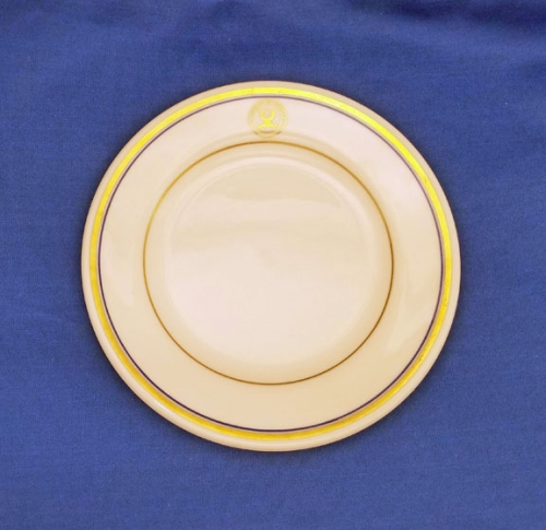 "U.S. Department of the Navy china dessert plate; 7-1/8"" diam. (vintage)"
