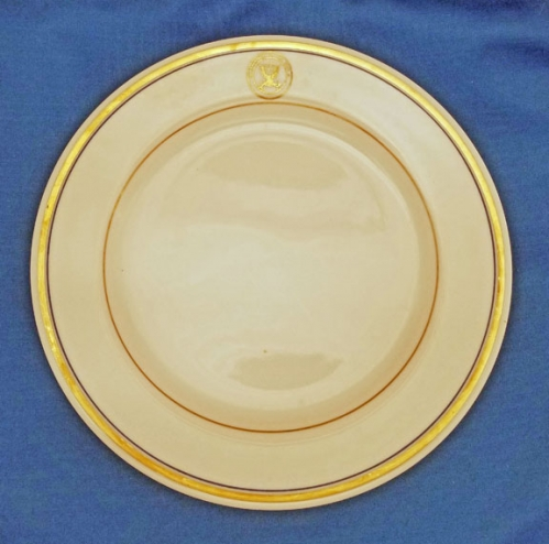 "U.S. Department of the Navy china dinner plate; 9-7/8"" diam. (vintage)"