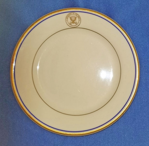 "U.S. Department of the Navy china bread plate; 5-1/2"" diam. (vintage)"