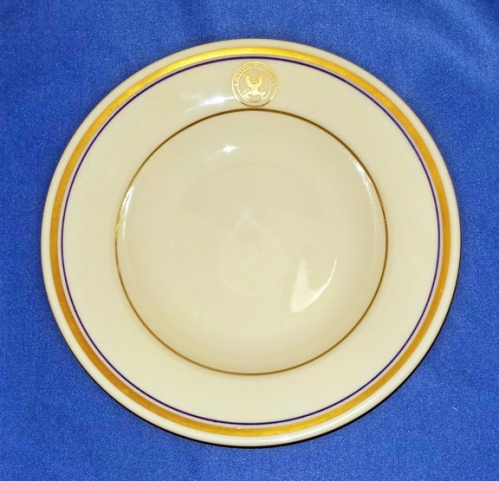 "U.S. Department of the Navy china cereal/fruit bowl; 6-3/4"" (vintage)"