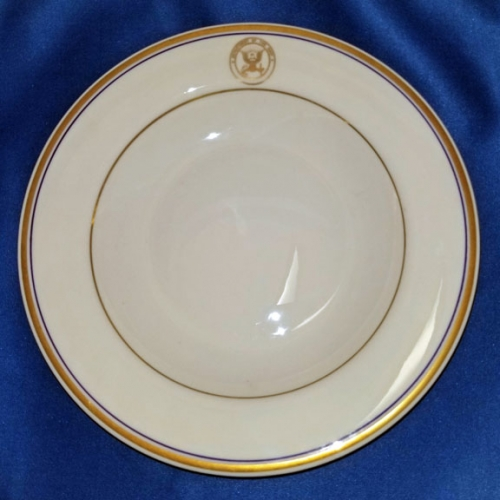 "U.S. Department of the Navy china soup bowl; 9"" diam. (vintage)"