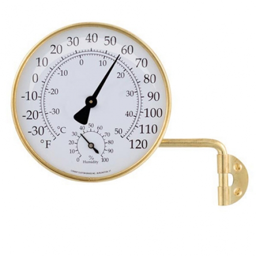 Outdoor Weather Station for temperature and humidity (brass) (new)