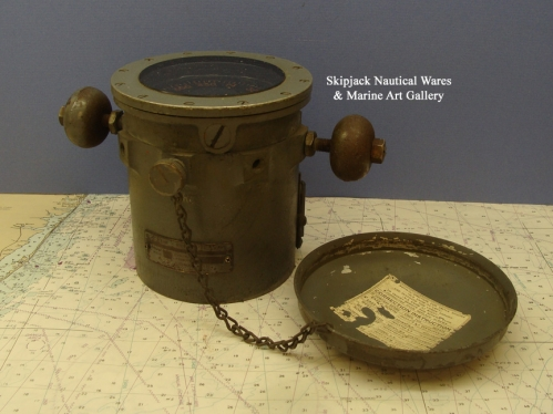 WWII US Navy Lifeboat Binnacle Compass