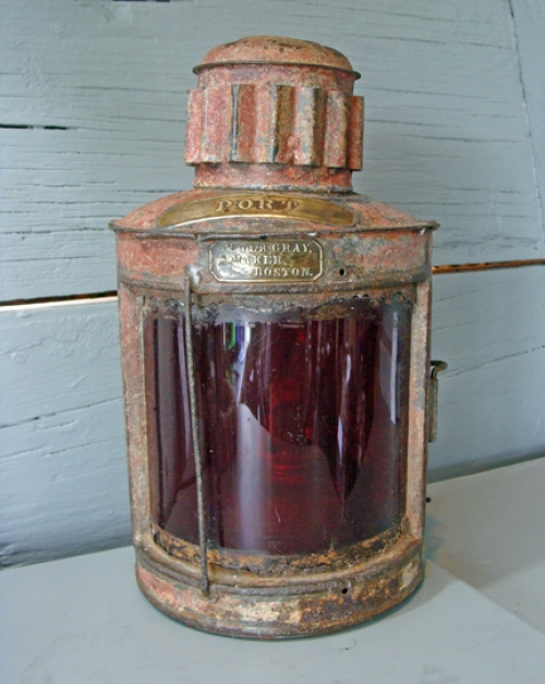 Rare Port Lantern Made by Peter Gray, Boston