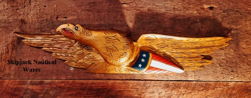 Vintage Bellamy Style Carved Wood Eagle